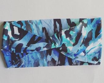 Active Yoga Headband - Blue Safari