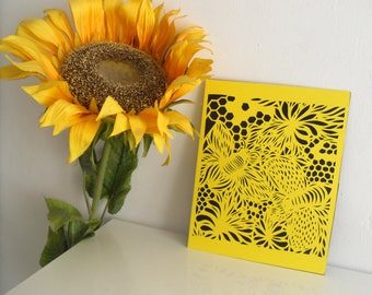 The bees, handmade papercut