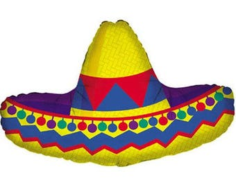 sombrero hat balloon 34 mexican party decorations summer party - Mexican Party Decorations