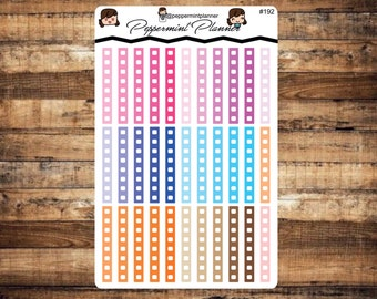H Check off Planner Stickers, {#192}