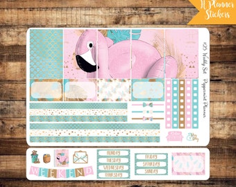H Planner Flamingo Weekly Stickers {#25}
