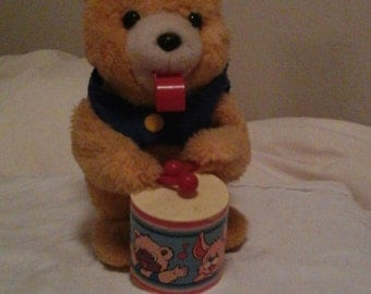 1970s ALPS Drumming Bear battery operated
