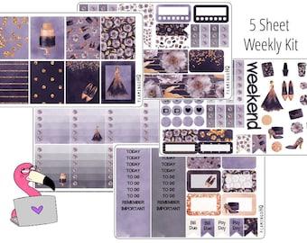 Pretty in Purple - Weekly Full Kit Planner Stickers