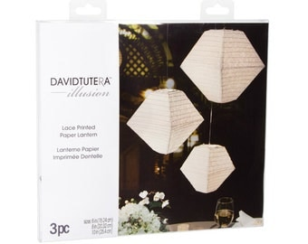 Illusion Trapezoid Lace Paper Lanterns - 3 pieces