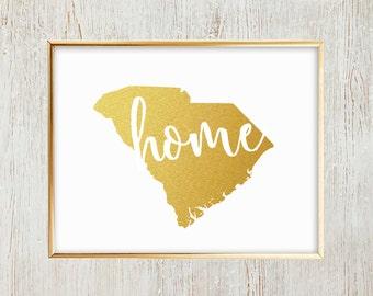 "South Carolina ""Home"" printable wall art"