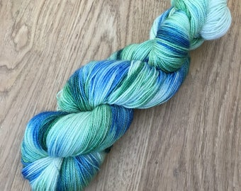 "100g merino/nylon sock yarn ""Earth from the Air"" *sparkly*"