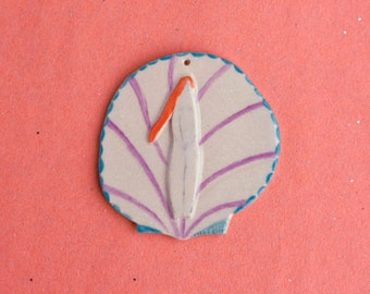 Handmade ceramic Venus in a shell