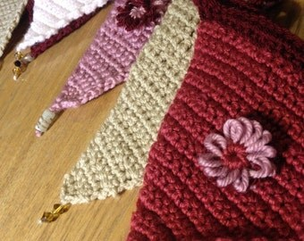 Handmade crocheted bunting lovely gift or decoration for your home