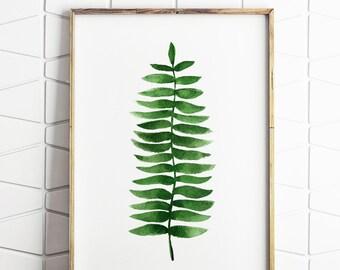botanical decor, botanical printable, fern wall art, fern printable, instant download, botanical wall art, trending printable