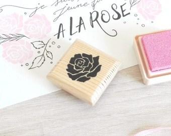 Tampon fleur rose (fait-main)