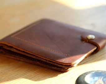 Handmade Cowhide Leather Wallet, Men's Leather Wallet, Mens Gift, Boyfriend Gift, Husband Gift, Gift for Him, Groomsman Gift, Leather Wallet