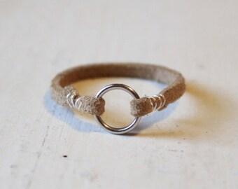 Suede Ring, Ring, Suede, Comfortable Ring, Hipster Ring, Boho Ring