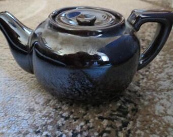 Vintage Dark Brown Mini Teapot with Lid-Japan