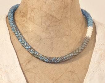 Blue & Ivory necklace