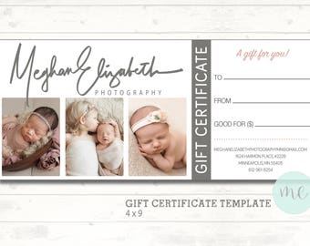 Gift card etsy photographer gift certificate template gift card gift certificate newborn photography printable template yadclub Image collections