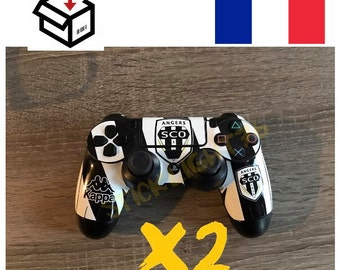 Skin stickers sco angers x 2 ps4 controller led light bar controller