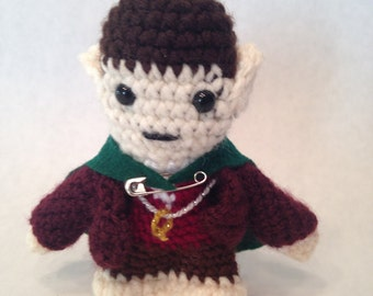 Crocheted Lord of the Rings Amigurumi Frodo