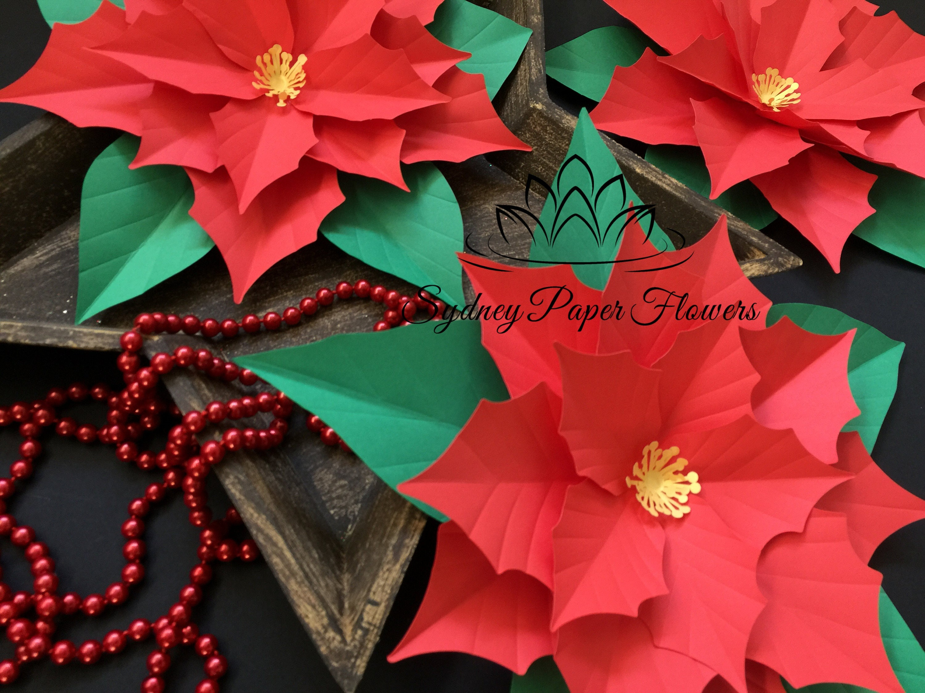 files only poinsettia paper flower template with pdf  svg