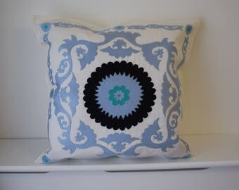Gorgeous handmade, hand embroidered suzani cushion cover