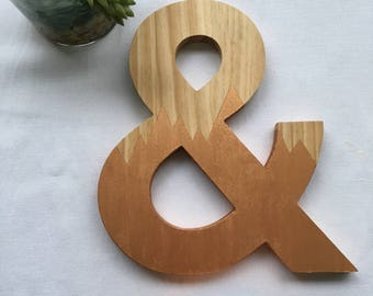 """Wooden Ampersand 9"""" Wall Art 