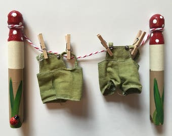 Fairy and elf washing line