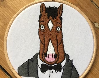 BoJack Horseman Embroidery Hoop 'before'