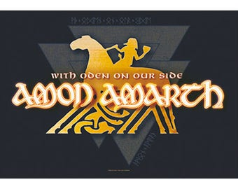 Amon Amarth - With Oden on Our Side - Fabric Poster