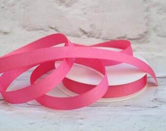 Grosgrain Ribbon, Pink Ribbon, 1 Meter Ribbon, 16mm Ribbon, Craft Ribbon, Sewing Supplies, Etsy Shop Supplies