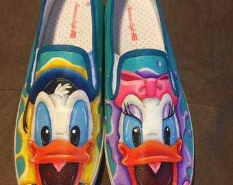 Donald and Daisy Duck custom shoes