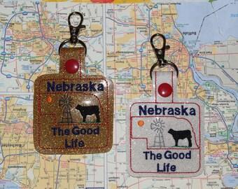 Nebraska The Good Life Keychain