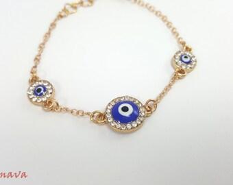 "Bracelet ""Turkish eye' - bracelet - gold"