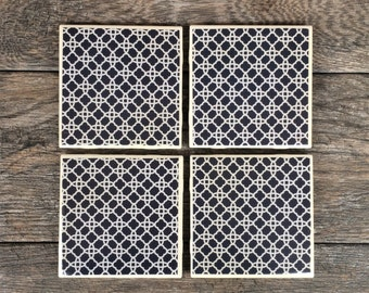 Blue Moroccan Style Coasters