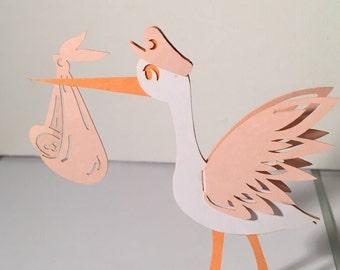 Pop up Stork - Pink