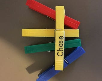 Personalized Colored Clips for behavior clip chart perfect for parents or teachers