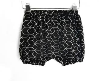Bloomer Geometric Black