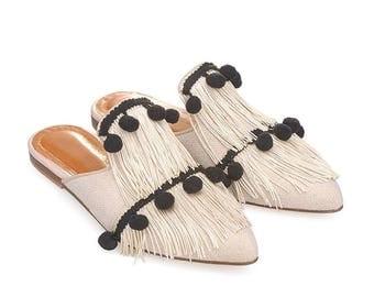 Emma-Women Leather Mules