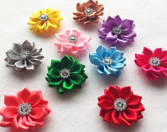 10pc mix colors flowers hair accessory sew on flowers glue on flowers headband appliqué flower girls hair accessory A108