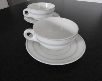 Gustavsberg Sweden 2 coffee cup and  2 saucers, Mid Century