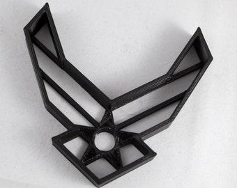 U.S. Military Air Force Logo Cookie Cutter | Black Air Force Cookie (3D Printed)