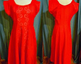 1950 Red dress vintage item 3