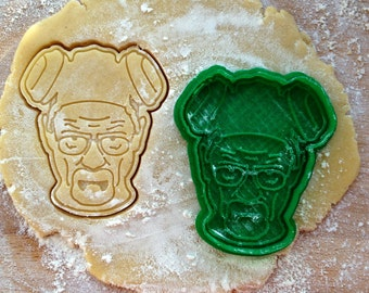 Walter White face cookie cutter. Heisenberg cookie stamp. Breaking Bad cookies