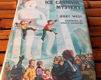 Happy Hollisters Adventure Book, Vintage Book, 1948 Children's Book, Ice Carnival Mystery