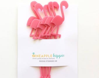 Drink Stirrers | Flamingo