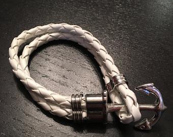 White anchor bracelet