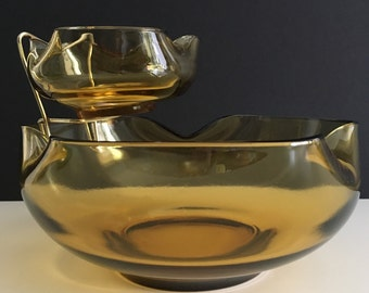 Vintage Anchor Hocking Modern Accent Chip and Dip Bowls