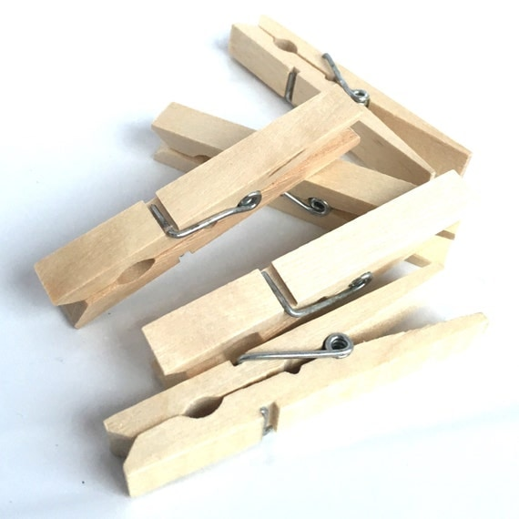 10 wood clothes pegs wooden clothes pegs vintage clothes