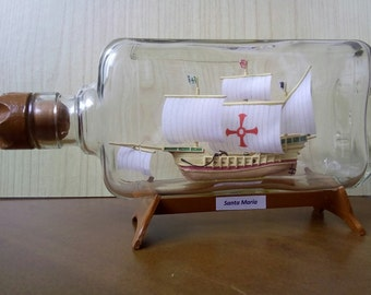 Ship in a bottle Santa Maria
