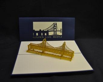3-D Golden Gate Bridge Pop-Up Card