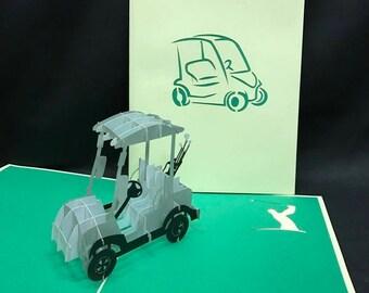 Golf Cart 3-d pop up card