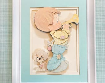 Nursery wall art, Music nursery theme, Precious moments, Baby wall print, Boy nursery decor
